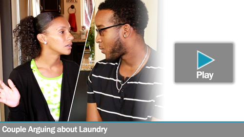 Couple Arguing about Laundry