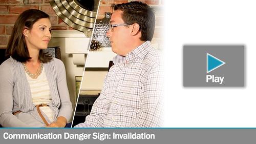 Communication Danger Sign: Invalidation - Lee & Jessica
